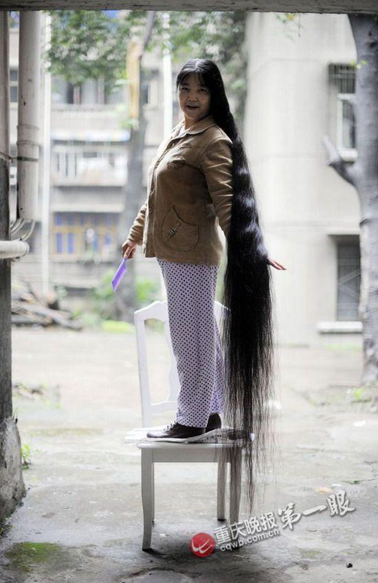 Xu Yunxue Has 2 1 Meters Long Hair Chinalonghair Com