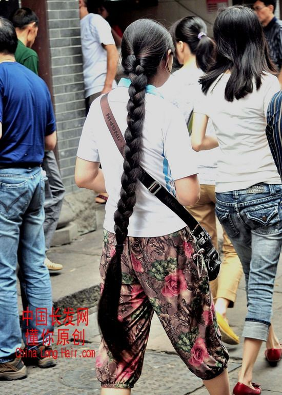 Streetshot Of Long Braid By Dongni Chinalonghair Com