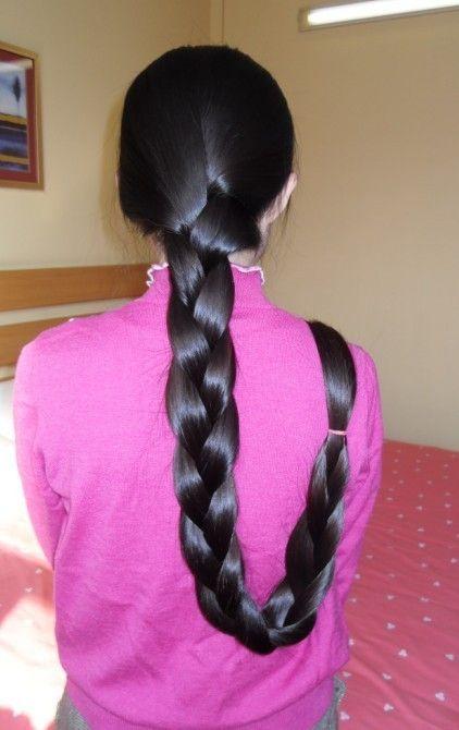 Silky Long Hair Made To Braid And Beautiful Bun