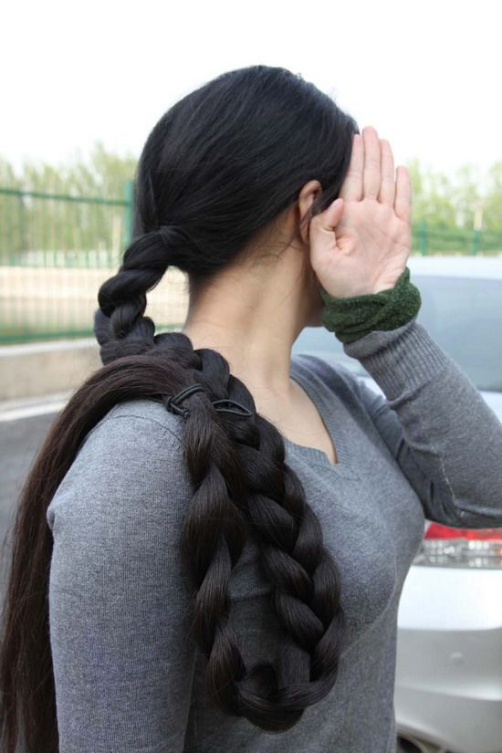 Super Long Hair Photos Taken By Hezhitengfei