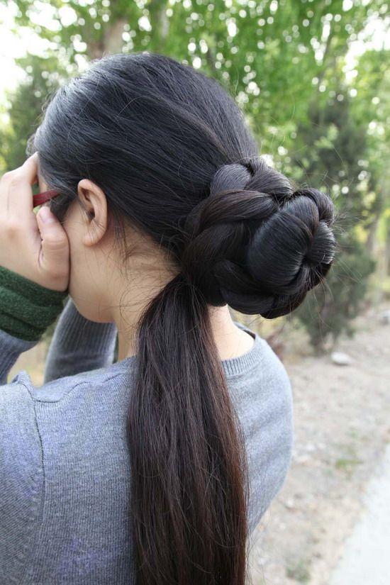Super Long Hair Photos Taken By Hezhitengfei