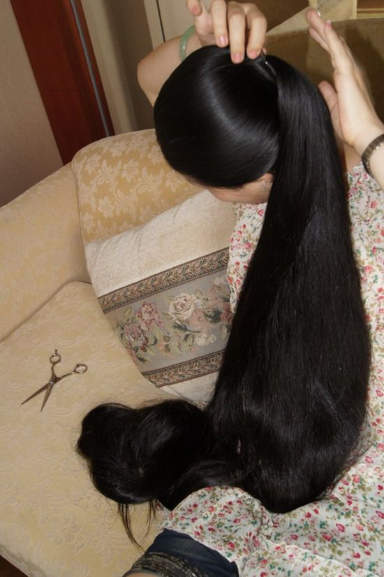 Gao Shuang Wash Her Beautiful Long Hair Chinalonghair Com