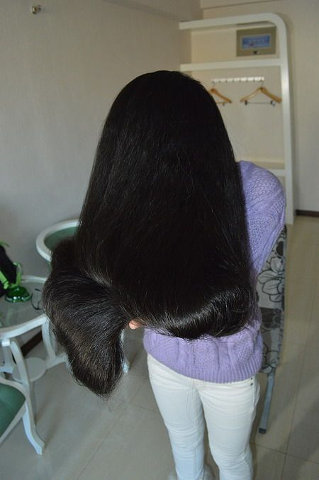 Lady Wash And Comb Her Very Long Hair Chinalonghair Com