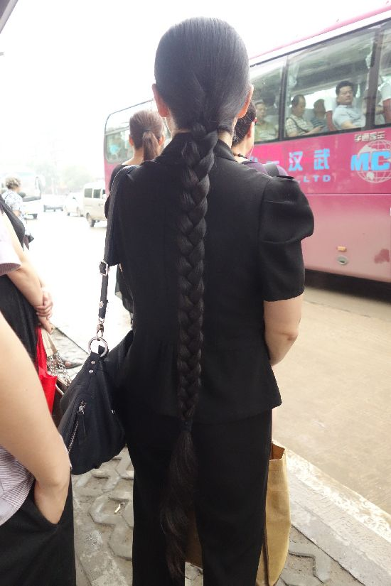 The same long braid lady in different years