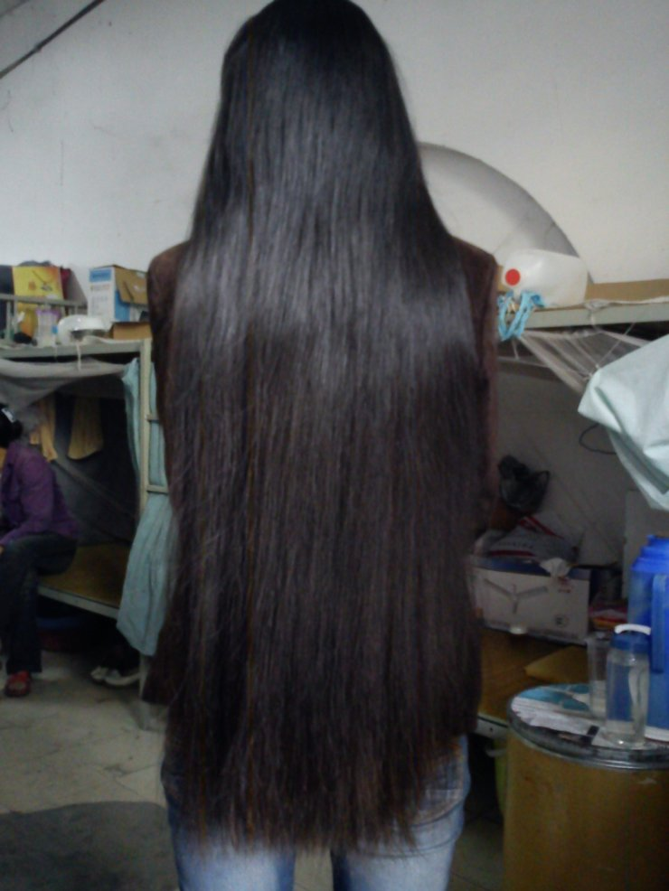 Thick long hair in winter
