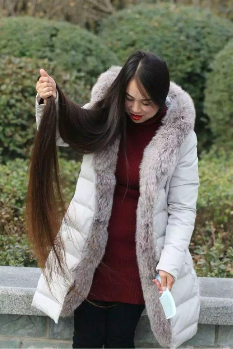 Floor Length Long Hair In Winter